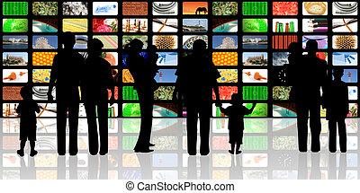 young people, děti, dívaní