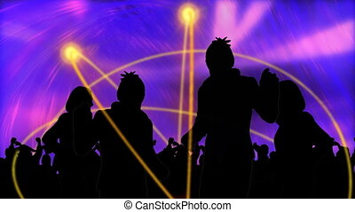 Animation showing young people dancing in high definition