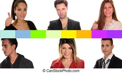 peace concept, collage of people of different racial and ethnic backgrounds
