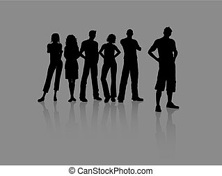 Young people - Group of young people