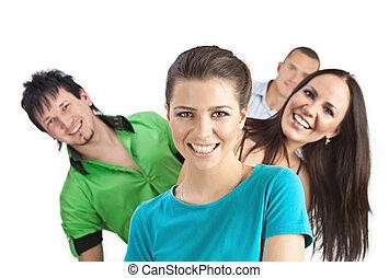 Young people having fun