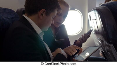 Young people making agreement in the plane