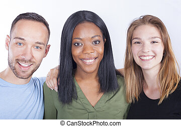 Young people of different races