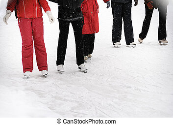 young people skating