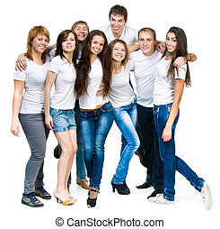young people smiling