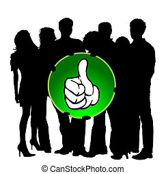 Young People - Thumb up