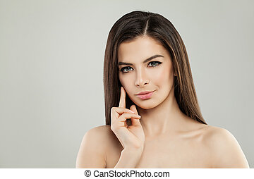 Young Perfect Model Woman with Healthy Skin