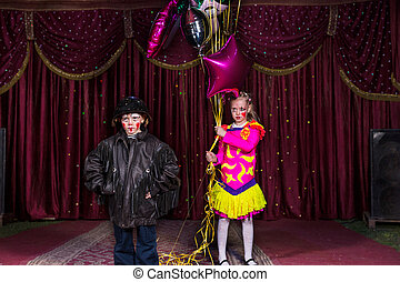 Young Performers with Balloons on Stage