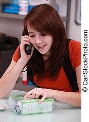 Young person on the phone