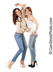 Young playful women