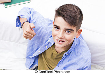young preteen smiling with braces