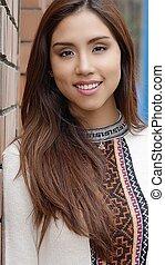 Young Pretty Hispanic Woman