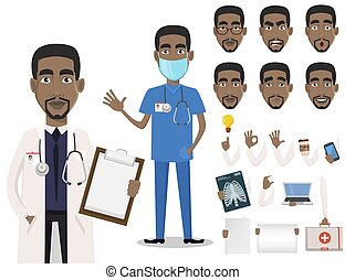 Young professional African American doctor