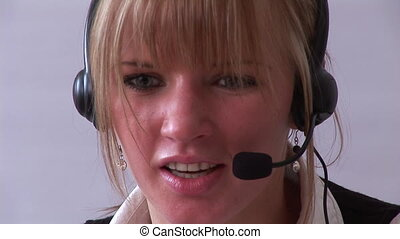 Young Professional businesswoman on the phone - Close up of...