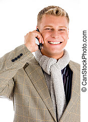 young professional man receiving a call