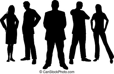 Young professionals - Silhouettes of young professional...