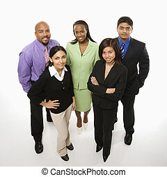 Young professionals. - Portrait of multi-ethnic business...