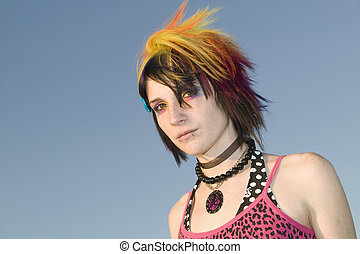 Young Punk Woman