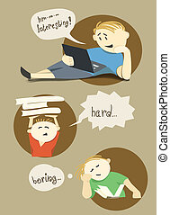 Young readers - Vector illustration