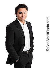 Young relaxed businessman