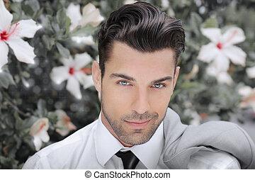 Young romantic man