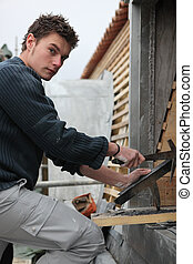 Young roofer