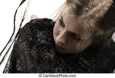 young sad girl