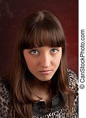 Young sad woman portrait