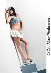 Young sailor woman
