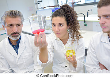 young scientists working at the laboratory