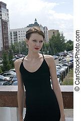serenity girl in black dress