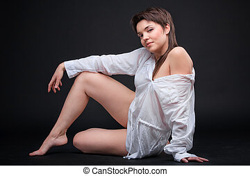 Young sexy brunette