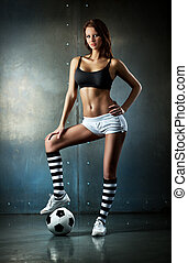 Young sexy football player