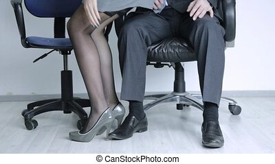 young sexy secretary is sexually harassing to her boss....