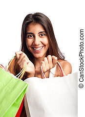 young shopping woman