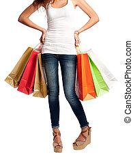 young shopping woman