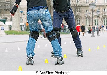 Young skating