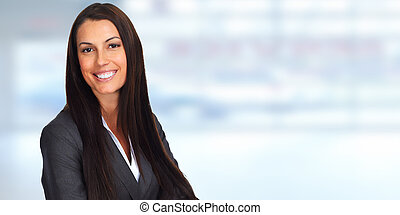 Young smiling business woman.
