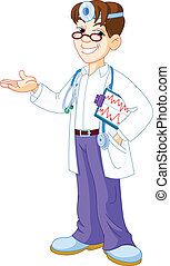 Doctor with clipboard - Young smiling Doctor with clipboard...
