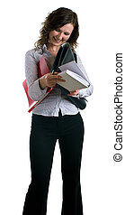 girl with a documents