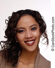 Young Smilinig Filipino Hispanic Woman Portrait Attractive