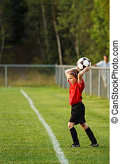 Young soccer player - Young girl with a soccer ball
