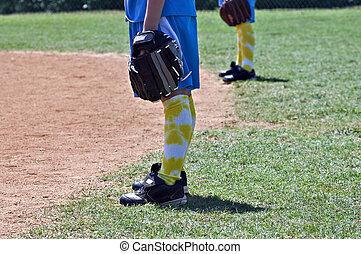 Young Softball Players