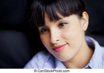 Spanish Woman Smiling  - Young Spanish Woman Smiling