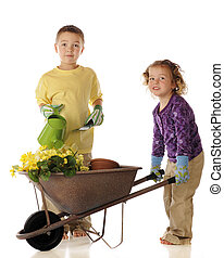 Young Spring Garden Workers