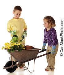Young Spring Gardeners