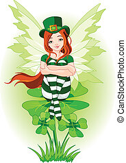 Young St. Patrick's fairy