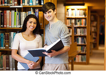 Young students with a book