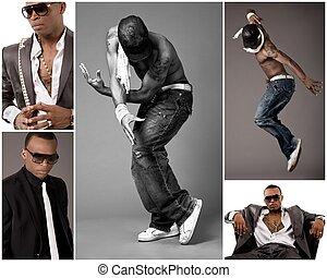 Young stylish black men