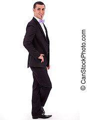 Young stylish business man standing